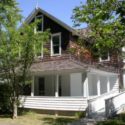 In this May 5, 2010 photo provided by the Pollock-Krasner House and Study Center, the 1879 home in East Hampton, N.Y., once shared by abstract expressionist painters Jackson Pollock and Lee Krasner is shown. Pollock, who would have turned 100 in 2012, will have the anniversary of his birth observed with exhibitions, fundraisers and other events throughout the year.