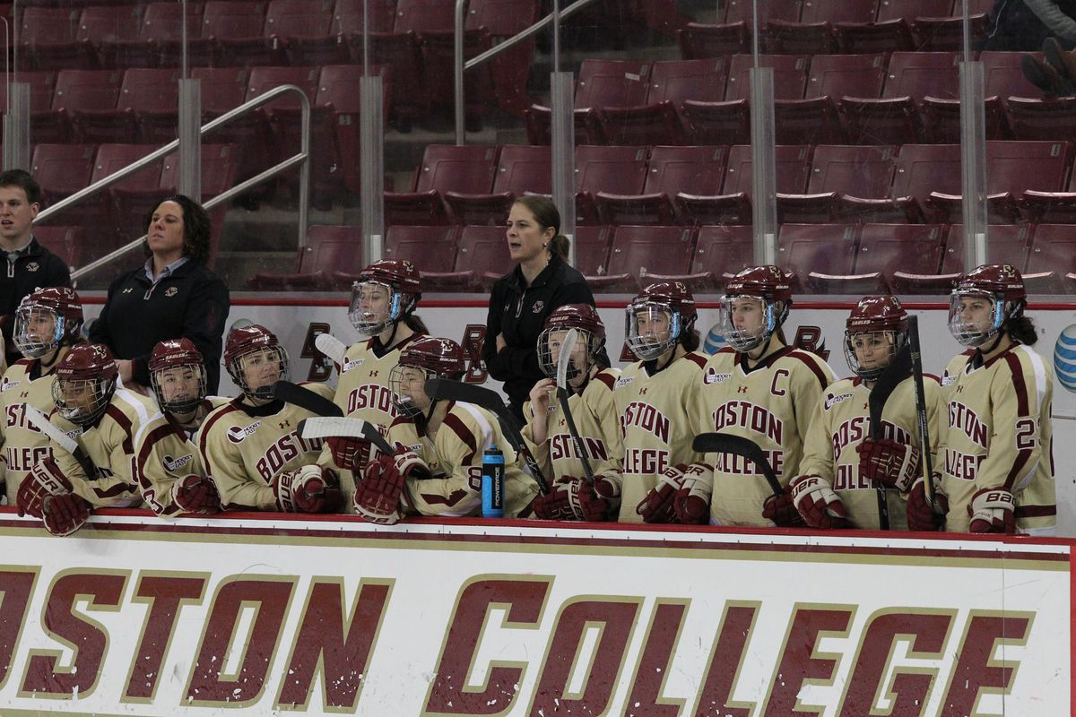 bc women's hockey bench bceagles.com