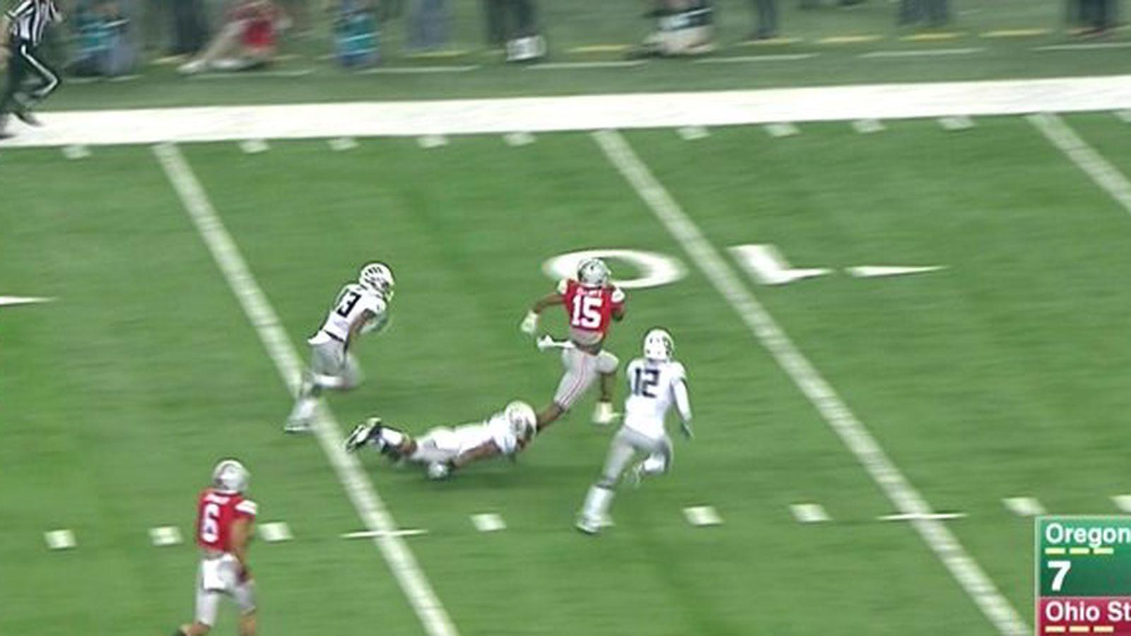 Ezekiel Elliott Ohio State Beat Oregon To Win National - Ohio state ties oregon 7 7 on ezekiel elliott touchdown run