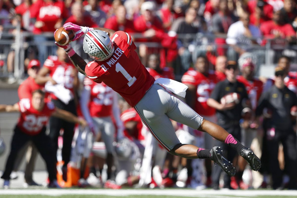 Braxton Miller is learning all about what being a wide receiver is like.