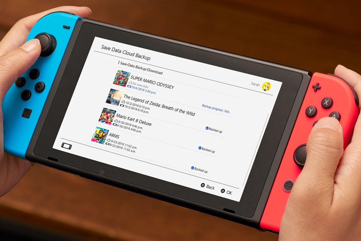 Cloud storage on Nintendo Switch