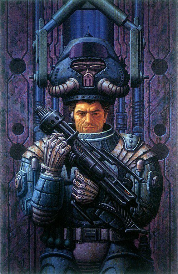 Its Hard To Beat The Grandaddy Of Them All Power Armor At Center Robert Heinleins Novel Starship Troopers Almost Every Instance