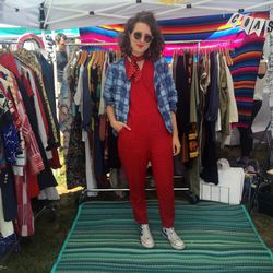 Coast to Coast vendor Jaimee looked flawless in (nearly) all vintage.