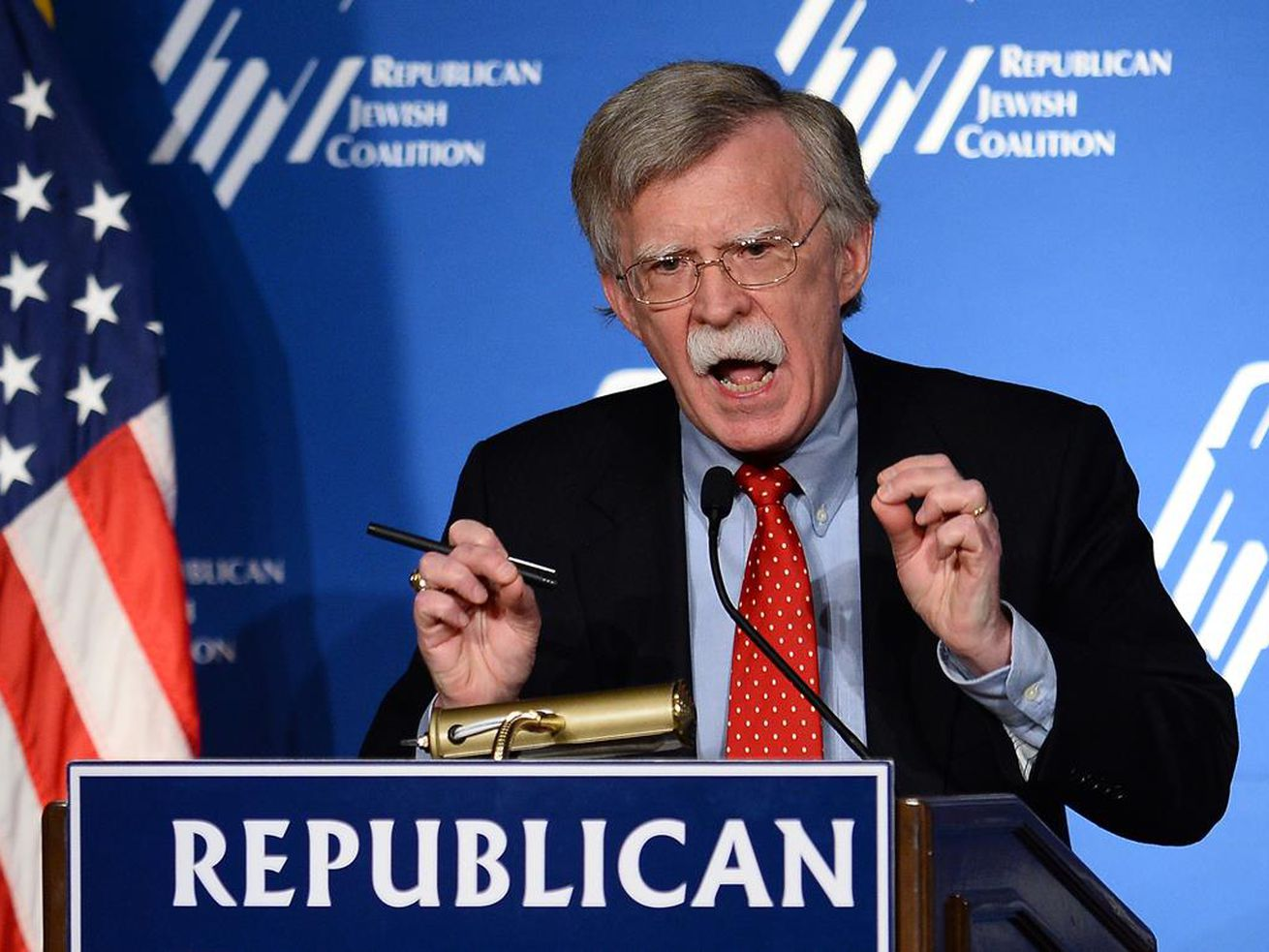 National Security Advisor John Bolton said there will be conditions to the US withdrawal from Syria.