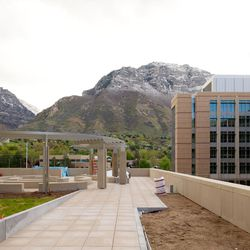 In addition to studying, learning and practicing skills, missionaries have views of the Wasatch Mountains and the Provo Temple to the east of the two new six-story additions to the Missionary Training Center (MTC) in Provo, Utah.