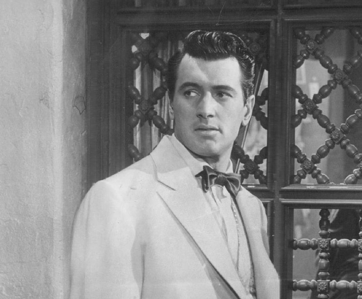 """Rock Hudson, the actor (seen here in """"Bengal Brigade"""") originally from Winnetka, was the subject of FBI files that referred to what they called his """"homosexual tendencies."""""""