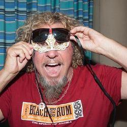 Sammy Hagar hams it up at the Venetian's Tiki Party. Photo: Tom Donaghue