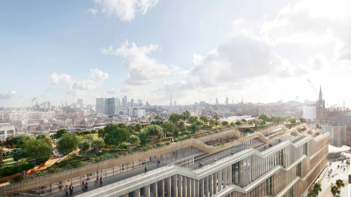Google S Huge New London Hq Is A Landscraper With A