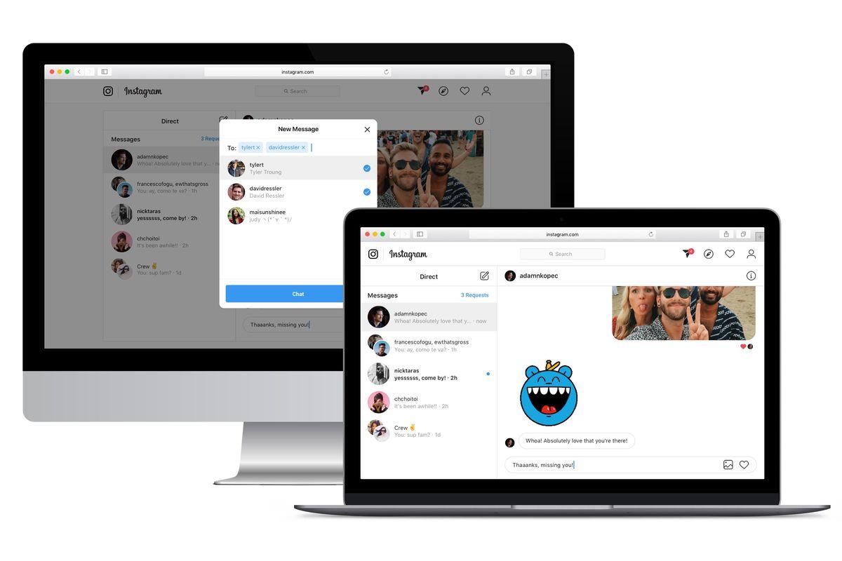 دایرکت مسیج در نسخه وب اینستاگرام