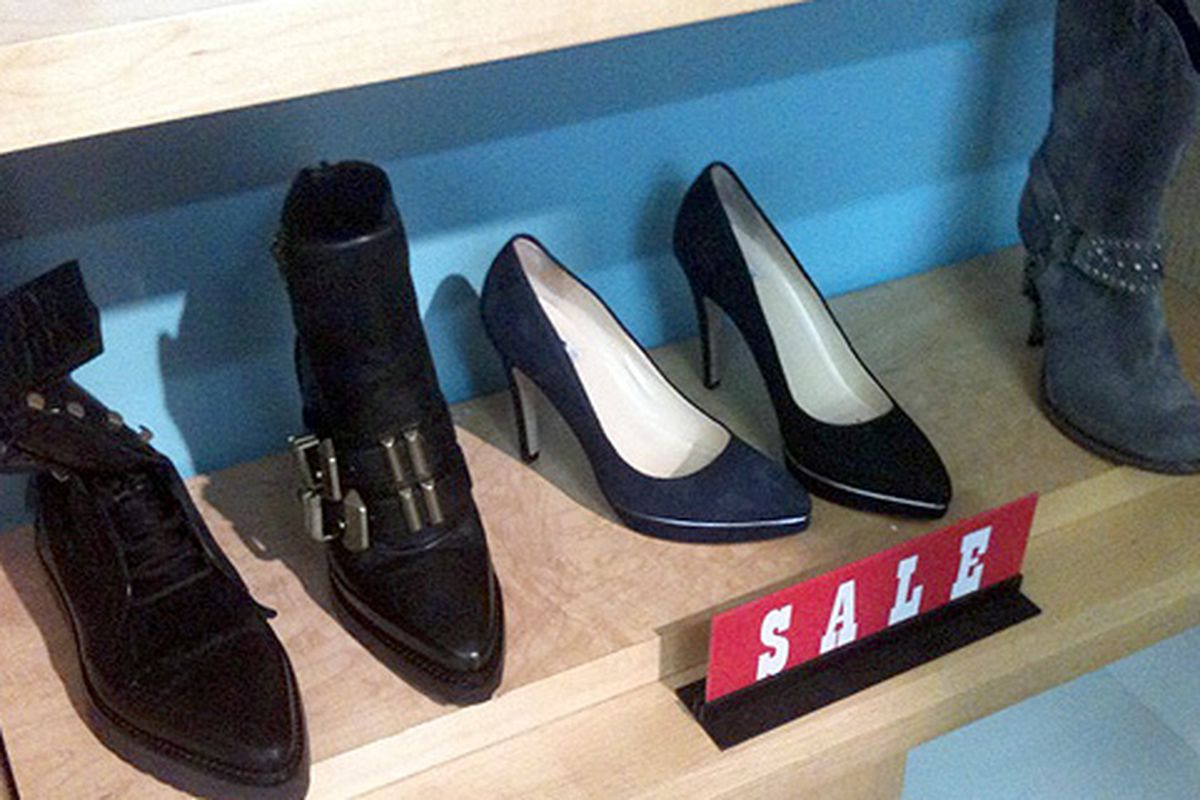Alexander Wang sale shoes on the left