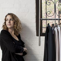 """Carole Harari at her shop, <a href=""""http://laboutique-galerie.com"""">La Boutique: L'Art et la Mode</a>, photo by <a href=""""http://aubrickpick.com"""">Aubrie Pick</a>"""