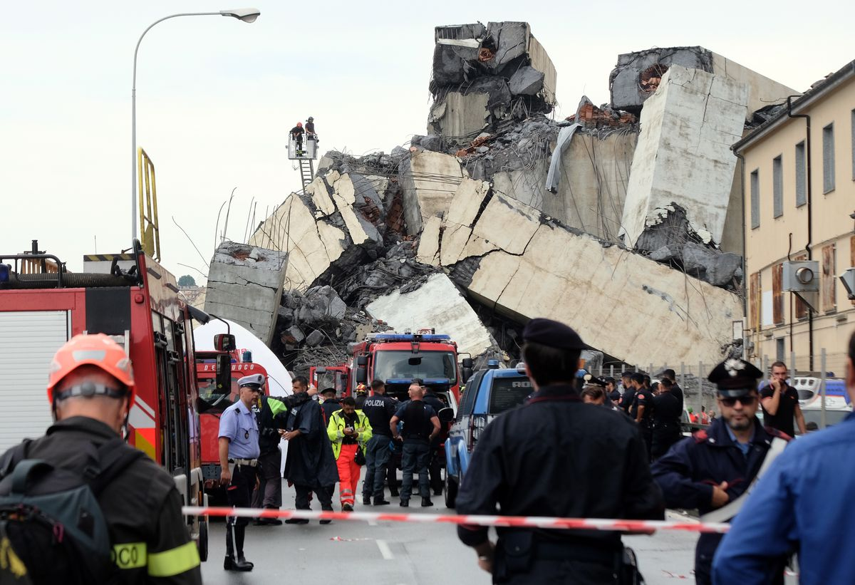 Over 280 fire brigades and rescue teams with sniffer dogs are on site trying to find survivors amid the rubble.