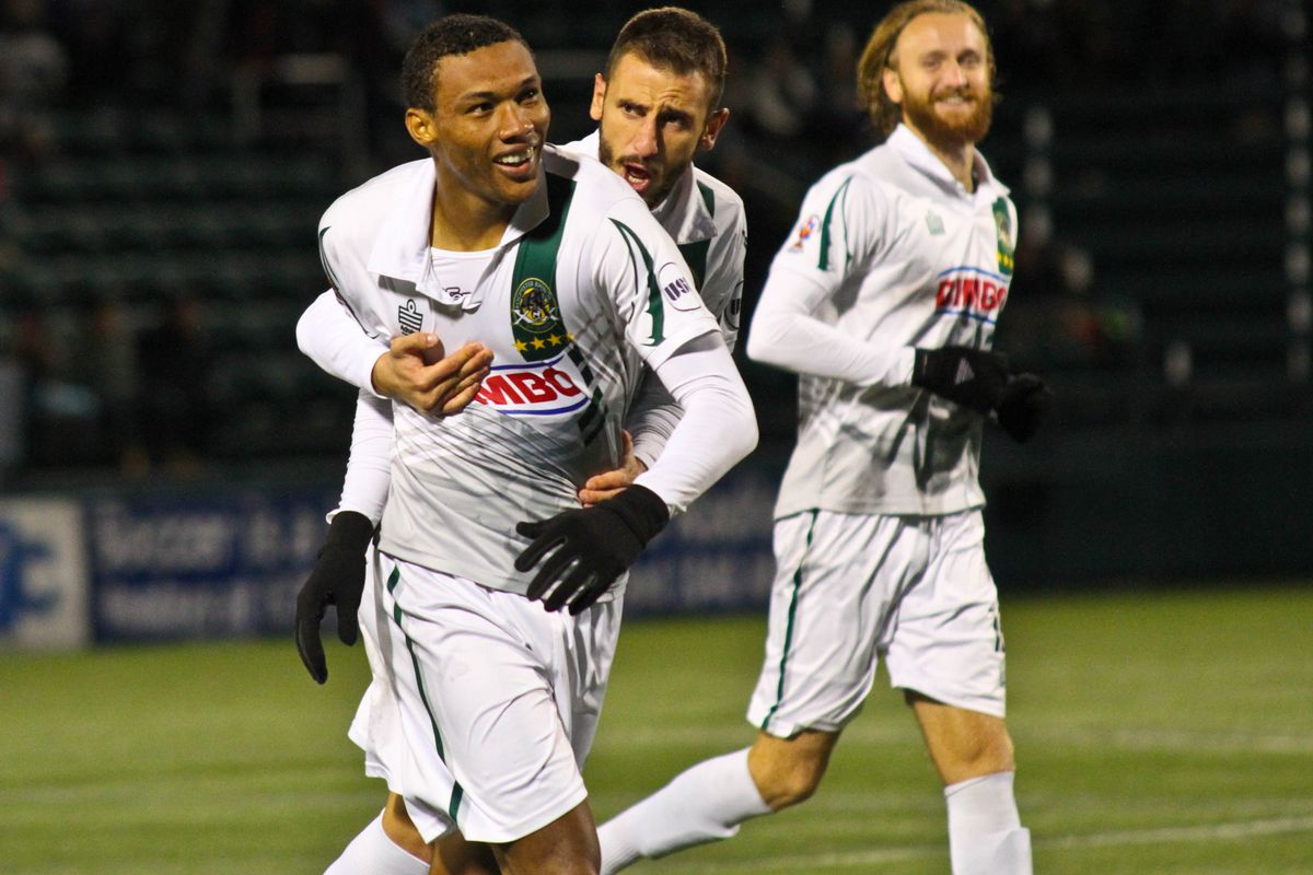 Steevan dos Santos scored a brace against Red Bulls II on Friday night just as he did in the 2015 Playoffs