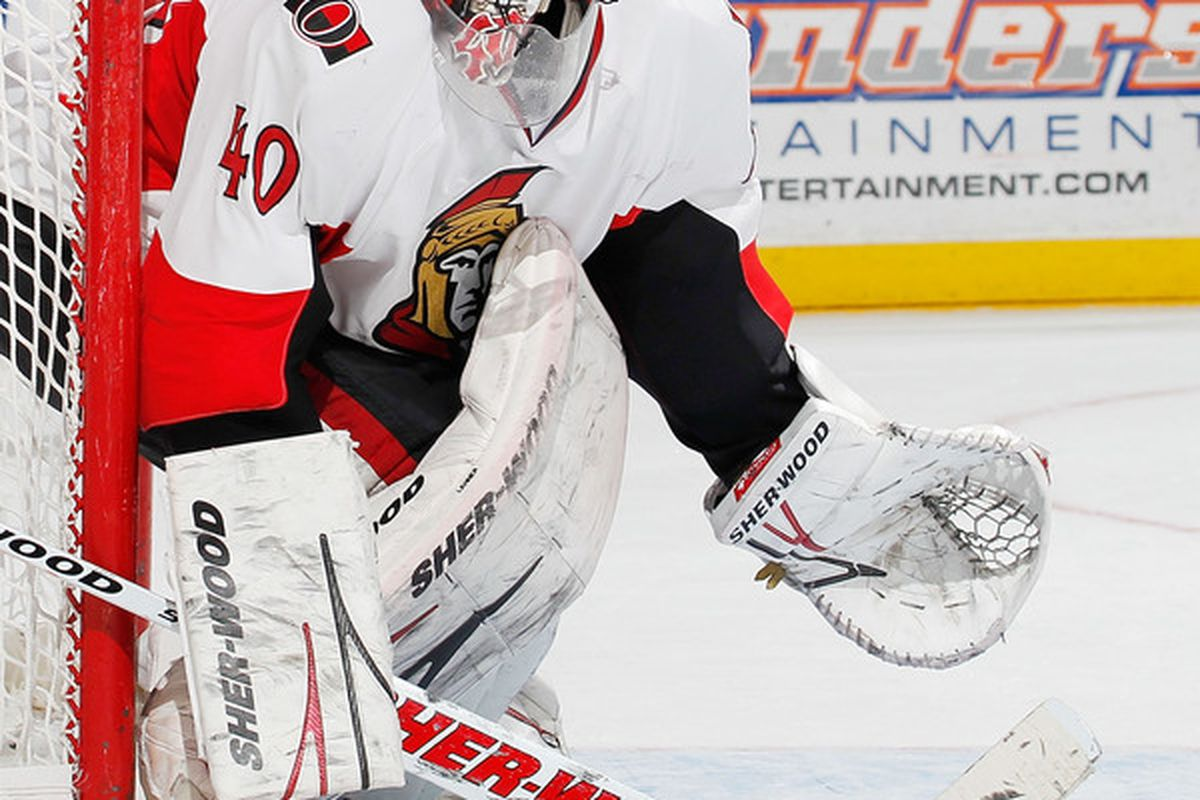 That's one piercing stare. If Alfredsson ever has Lehner babysit his kids, they will go RIGHT TO BED, YES SIR MR. LEHNER.