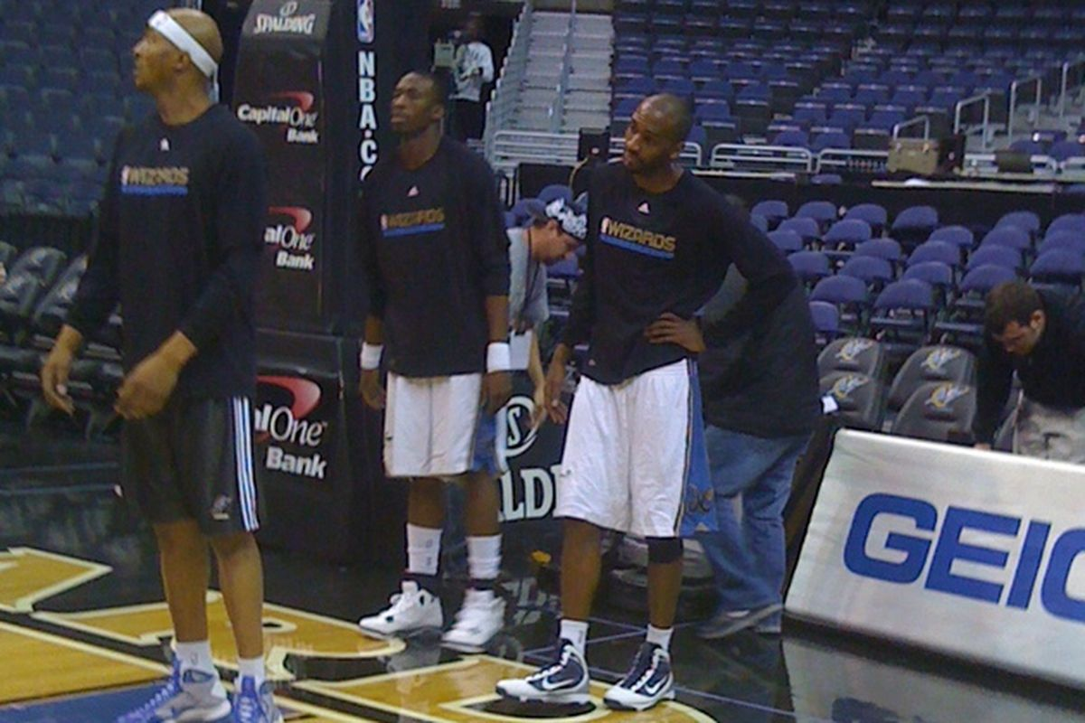 Our new former Dallas Mavericks players, via my Iphone from Wednesday's game.