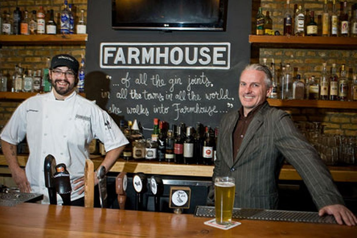 Chef Eric Mansavage and co-owner Ferdia Doherty