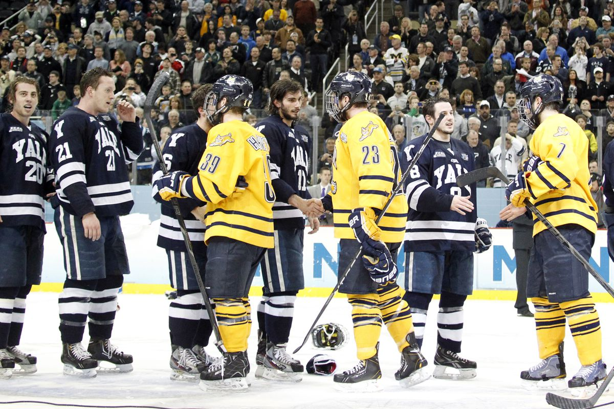 The peak of the Whitney Ave. rivalry was last April in Pittsburgh when Yale and Quinnipiac met for the 2013 NCAA Championship.