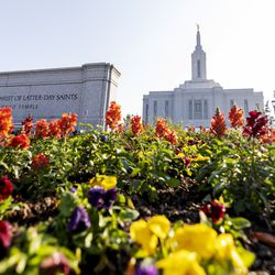 The Church of Jesus Christ of Latter-day Saints' Pocatello Idaho Templein Pocatello, Idaho, is pictured on Monday, Sept. 13, 2021.Ground was broken for the temple in the spring of 2019.