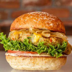 Organic quince burger