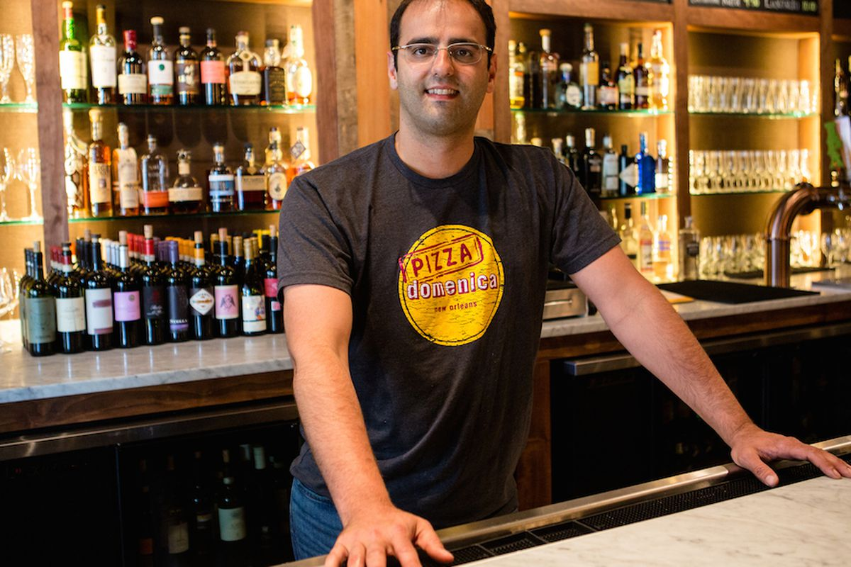 Chef Alon Shaya at his newest restaurant (for now) Pizza Domenica
