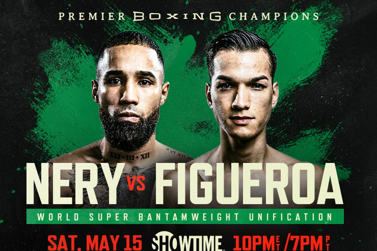 <label><a href='https://www.mvpboxing.com/news/boxing/1620601827/Nery-vs-Figueroa-more-Boxing-TV-schedule-for-May-15?ref=headlines' class='headline_anchor news_link'>Nery vs Figueroa, more: Boxing TV schedule for May 15</a></label><br />Showtime leads the coming weekend with a strong main event on Saturday. Saturday, May 15 DAZN, 2: