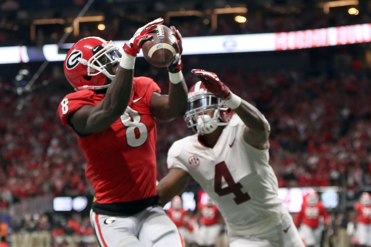 Riley Ridley Might Be The Draft S Most Sure Thing At Receiver Hogs Haven