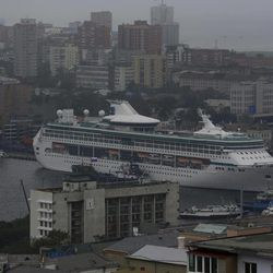 A cruise liner is berthed at the port in the eastern Russian city of Vladivostok Wednesday, Sept. 5, 2012. Once a mysterious closed city during Soviet times, Vladivostok is ready to strut in the world spotlight as host of the Asia-Pacific Economic Cooperation summit. Russia has splashed $20 billion preparing for the summit in Vladivostok, its largest but long-neglected Pacific port, as part of a grand plan to become a bigger player on Asian markets.