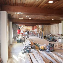 Looking towards the bar from the back of the dining room