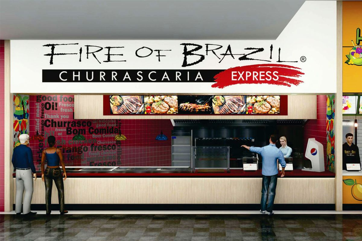 A rendering of the Fire of Brazil Express counter coming to the Grand Canal Shoppes food court.