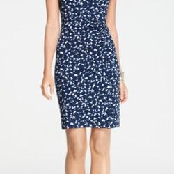 """<a href=""""http://www.anntaylor.com/ann/product/AT-Apparel/ANN-Top-Rated/Stencil-Print-Side-Ruched-Cap-Sleeve-Dress/280165?colorExplode=false&skuId=11440390&catid=cata000047&productPageType=saleProducts&defaultColor=1166"""">Cap Sleeve Dress</a>, $41.99 (was 5"""