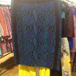 Snakeskin print skirt, $60