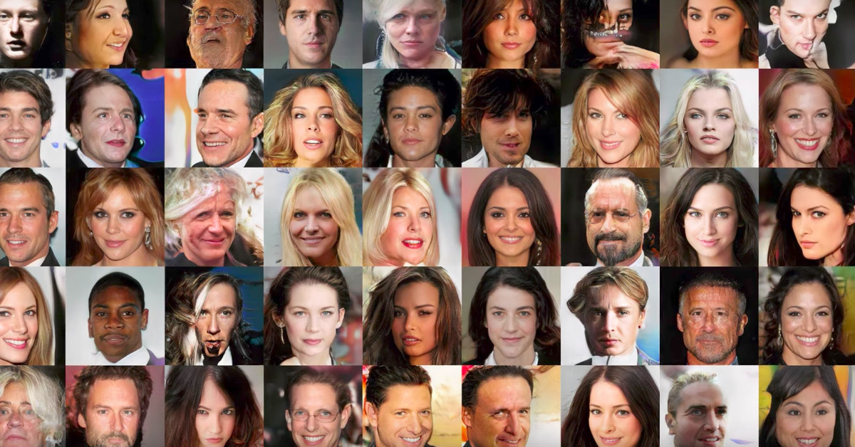 All of these faces are fake celebrities spawned by AI