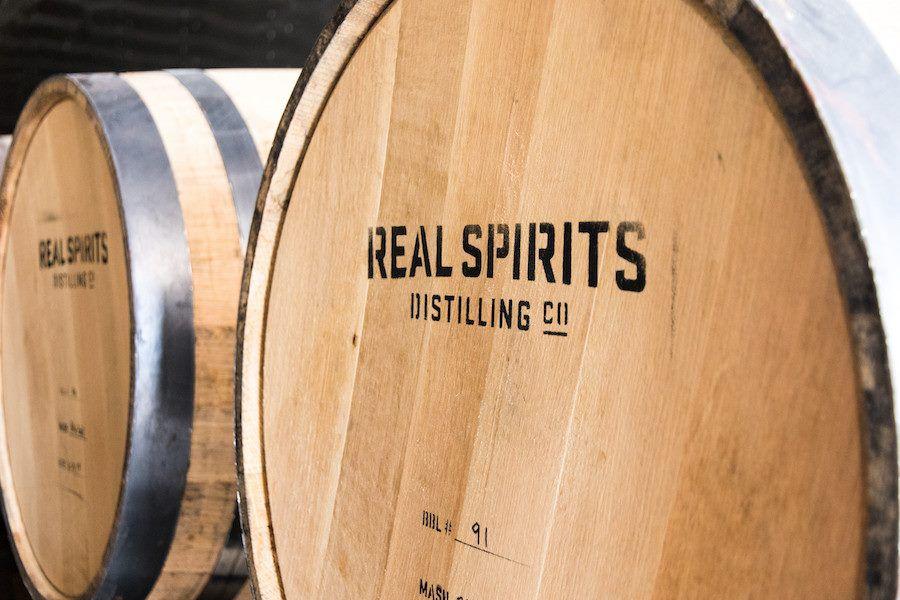 Real Spirits Distilling Co. barrel