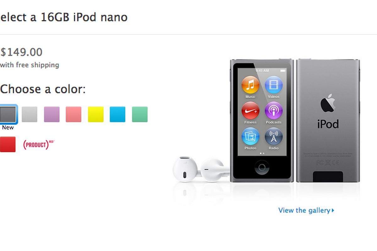 space gray ipod nano
