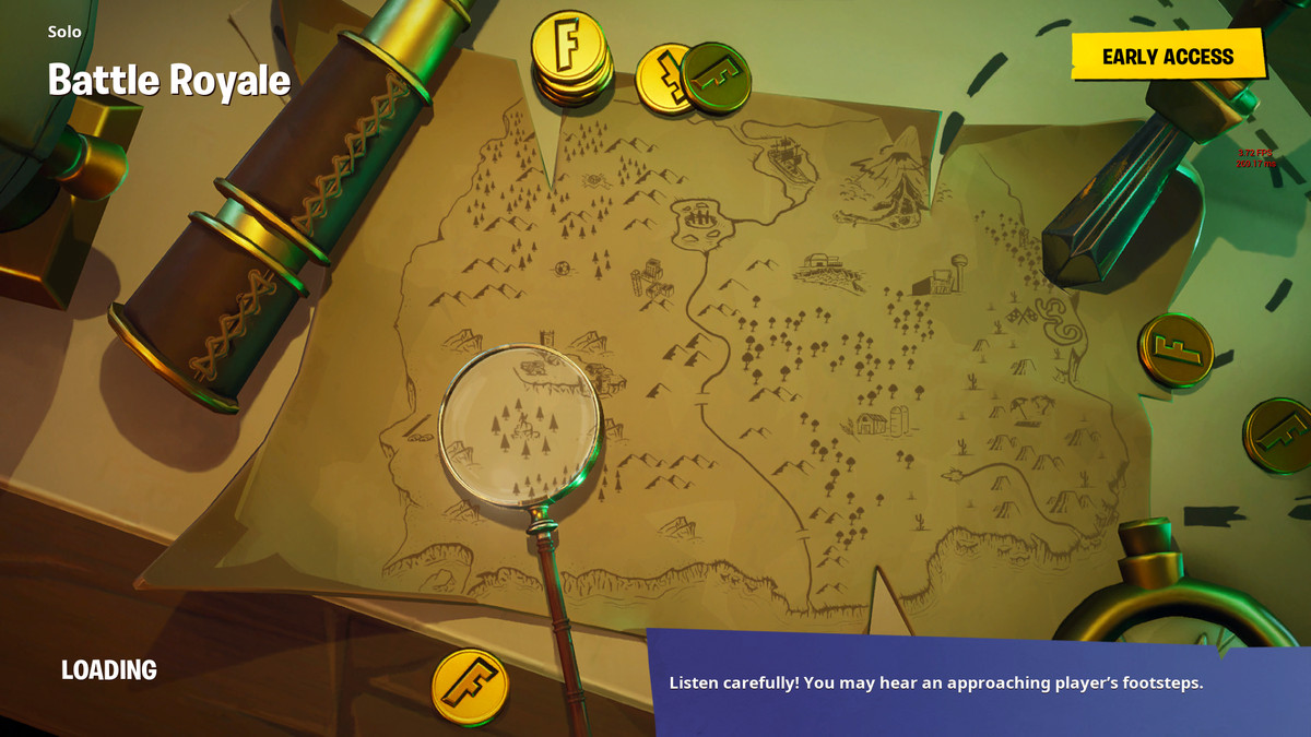 Fortnite's season 3 week 8 challenge Isle of Treasure loading screen