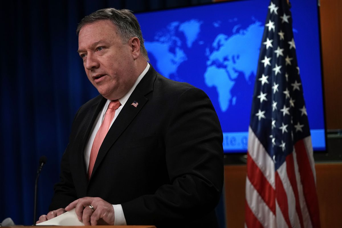 Secretary Of State Pompeo Holds Media Briefing At The State Department