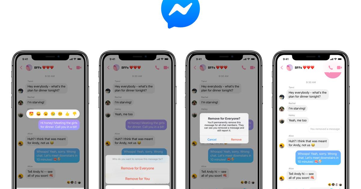 Facebook Messenger Gets an Unsend Feature