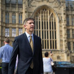 Utah Valley University President Matthew S. Holland arrives at The Palace of Westminster, home of the House of Commons and the House of Lords, the two houses of the Parliament of the United Kingdom, on Monday, July 10, 2017.