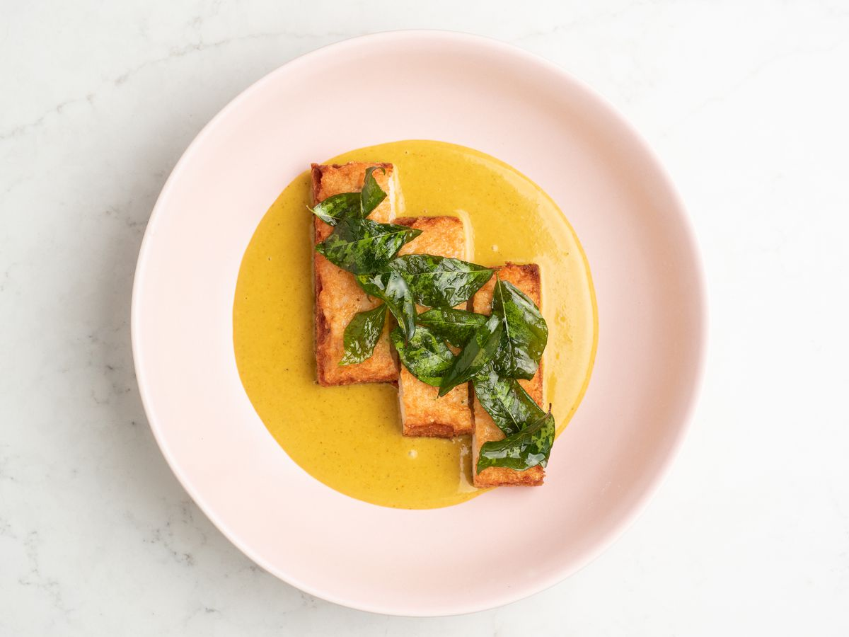 Shrimp toast with Cantonese curry at Nightshade