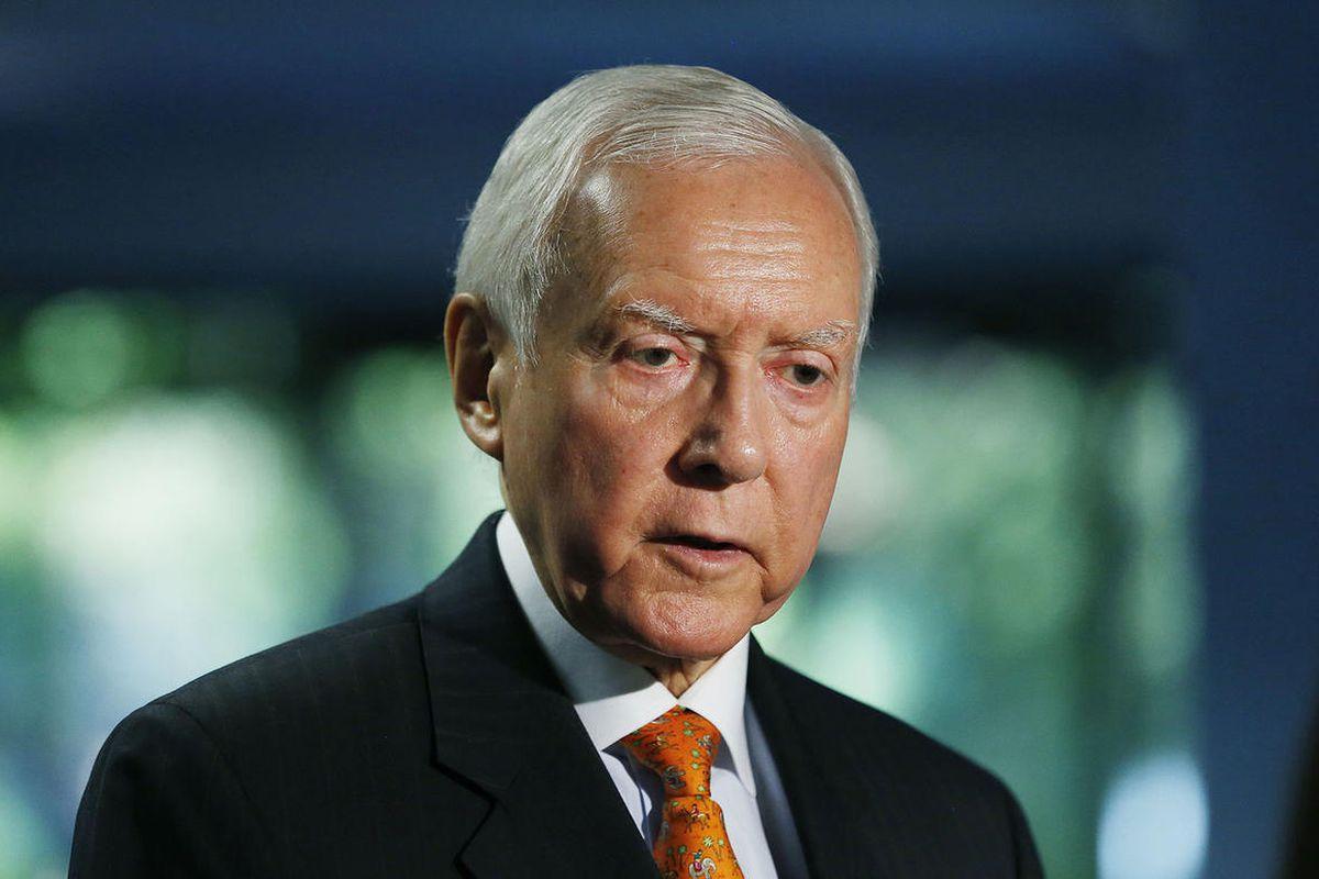 Sen. Orrin Hatch, R-Utah, is interviewed in Salt Lake City, Thursday, Aug. 7, 2014.