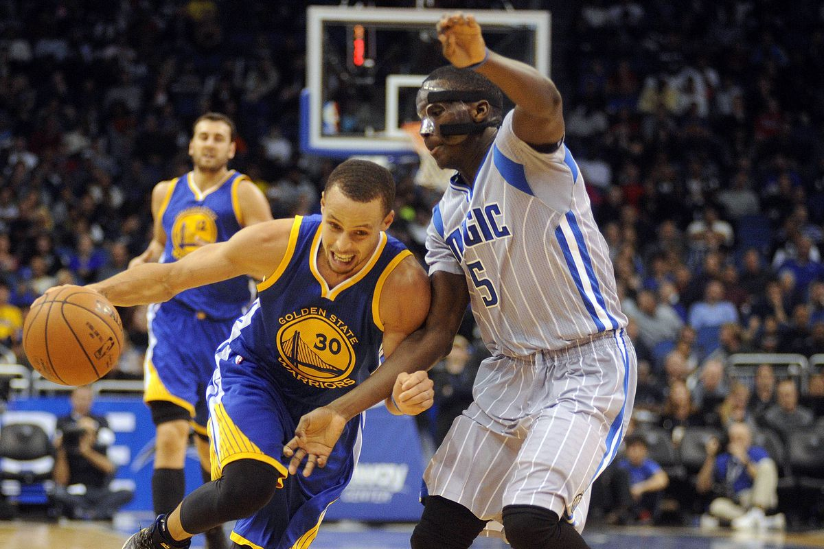 Stephen Curry and Victor Oladipo
