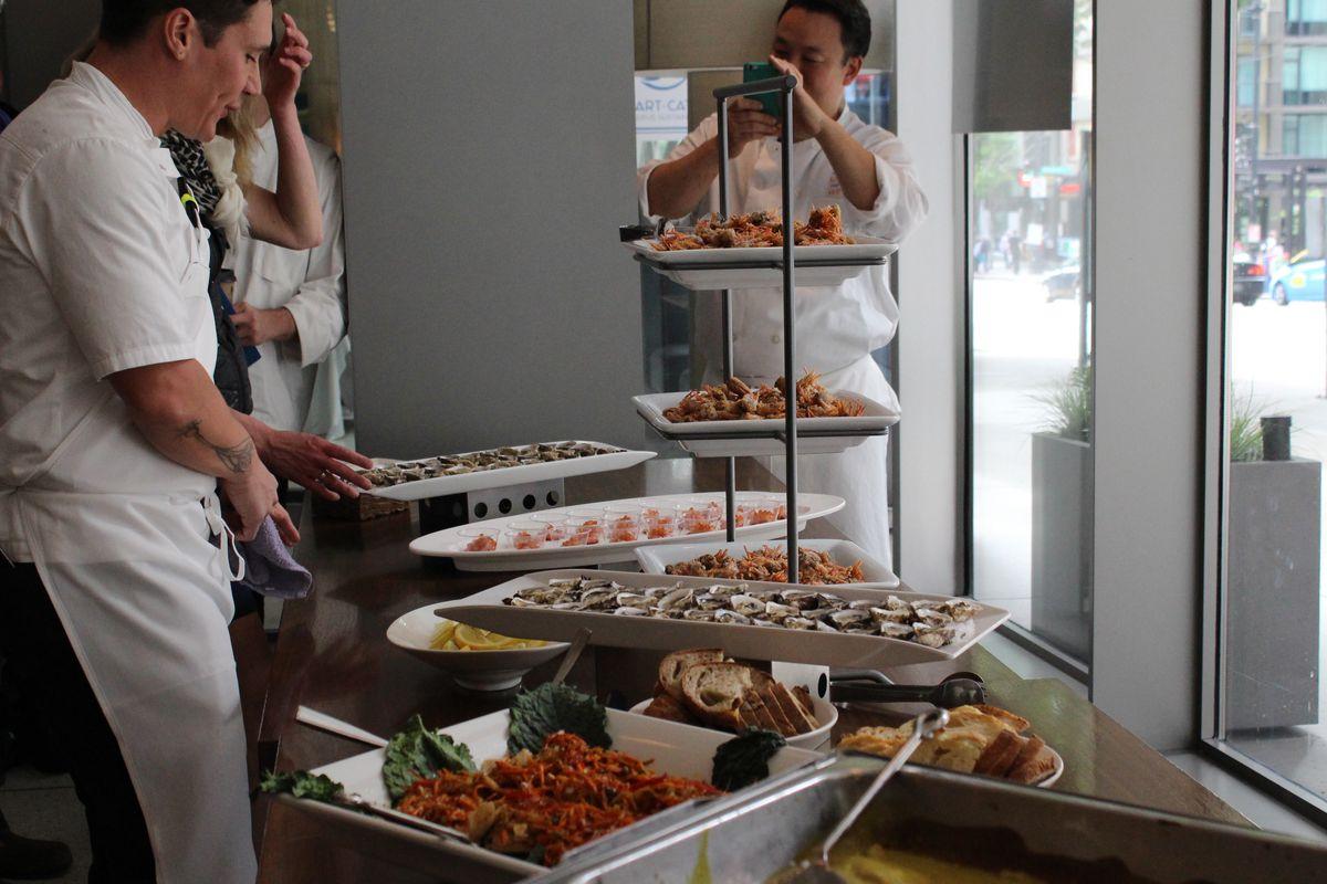 Chef Taichi Kitamura of Sushi Kappo Tamura at a Smart Catch tasting event