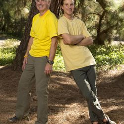"""Salt Lake father-son team who are both cancer survivors Dave, left, and Connor O'Leary will be on the new season of """"The Amazing Race,"""" premiering Sunday, Feb. 23 on CBS."""