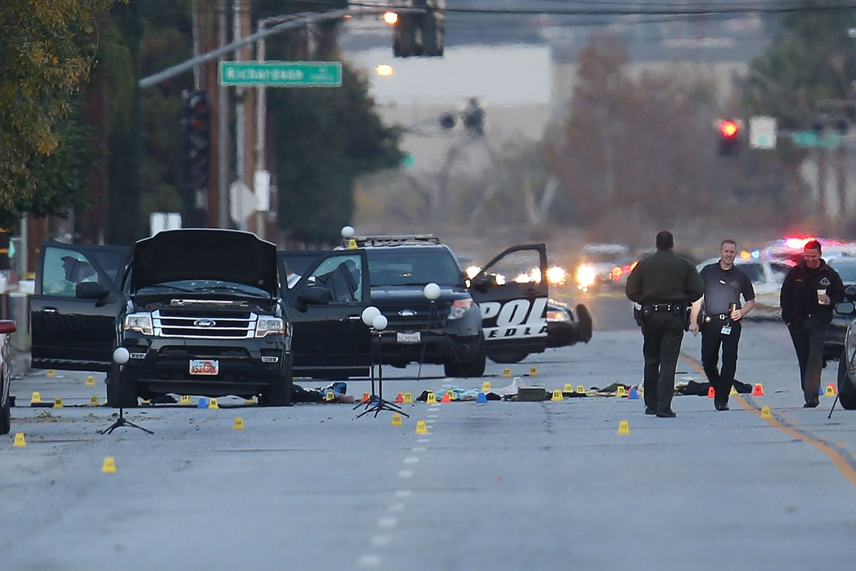 The scene where the suspects were killed.