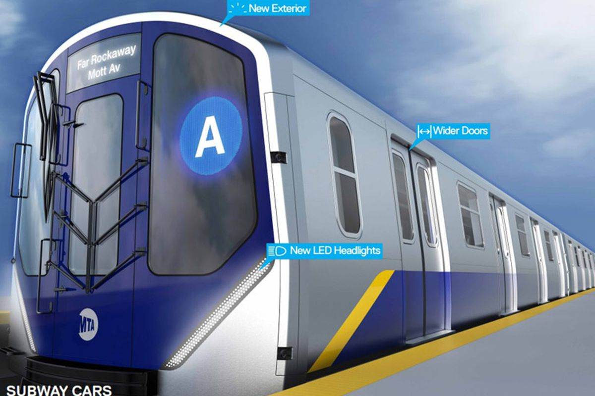 tour the mta 39 s new open gangway subway cars in midtown this week curbed ny. Black Bedroom Furniture Sets. Home Design Ideas