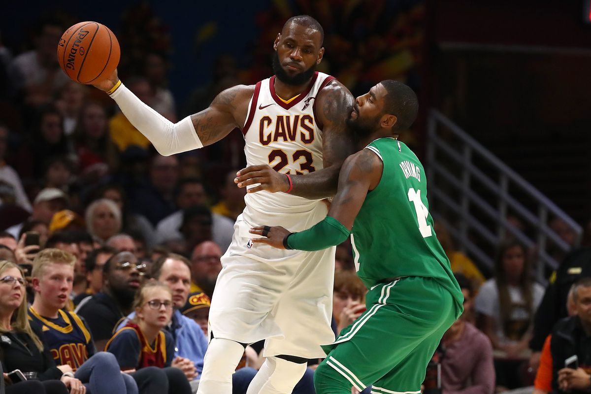 2a3438a19e4e NBA scores 2017  LeBron James and Kyrie Irving combined for a wild Monday  night