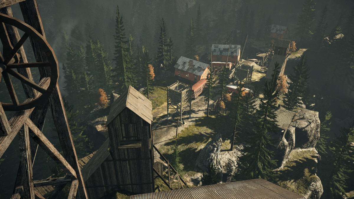 A sawmill in Alan Wake: Remastered