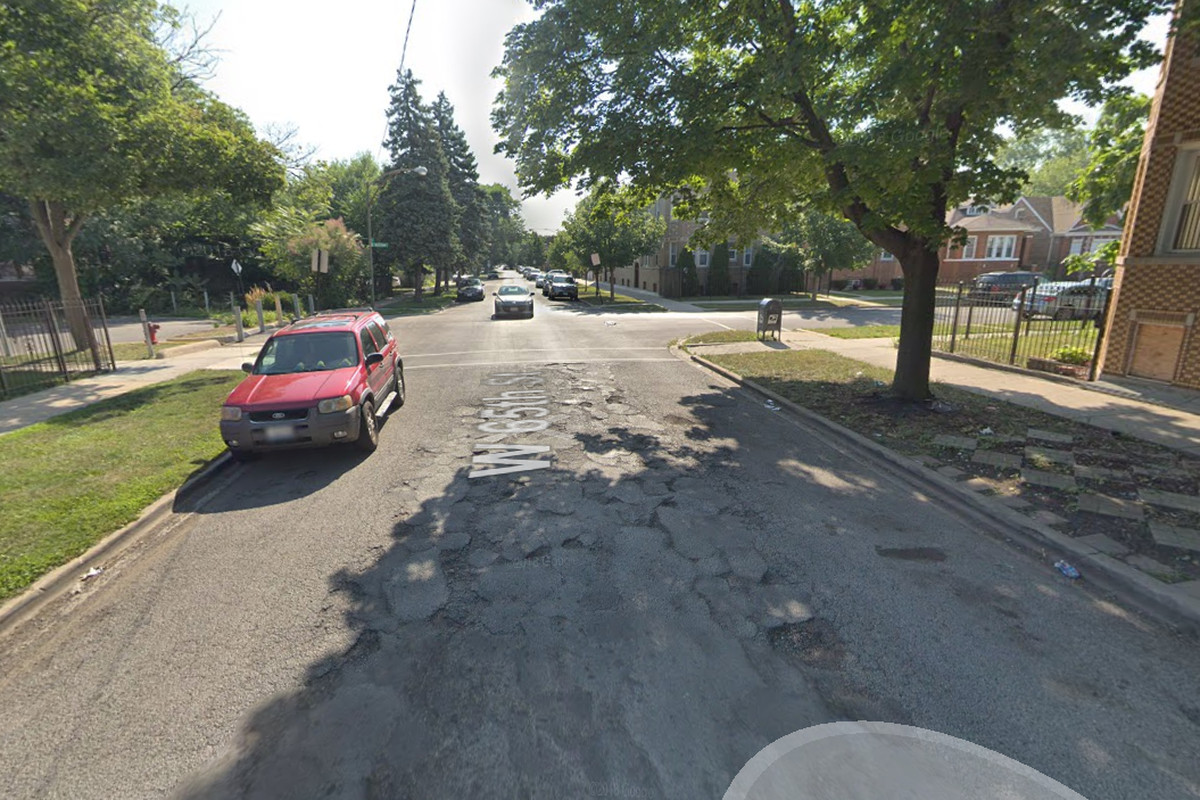 Picture of the block where a burglary was reported.