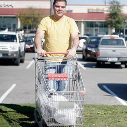 Yoss off-roads in the MT Supermarket parking lot.