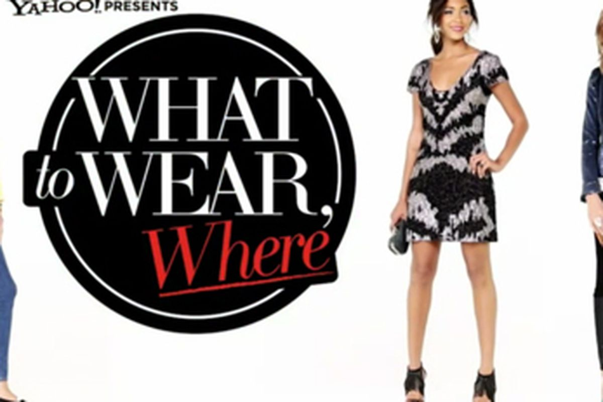 """Video still via <a href=""""http://www.whowhatwear.com/website/videos/what-to-wear-where/"""">WhoWhatWear.com</a>."""